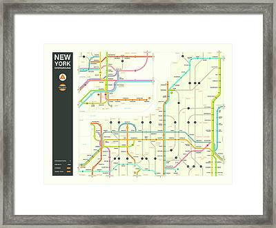 New York State Overground Framed Print by Jazzberry Blue