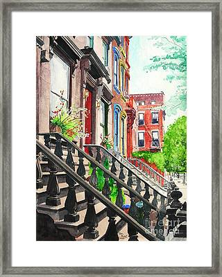 New York Steps Framed Print