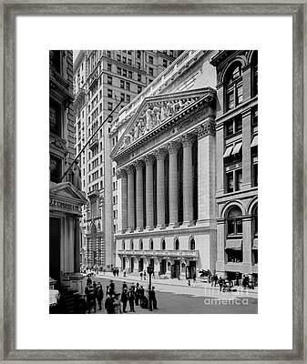 New York Stock Exchange Circa 1904 Framed Print by Jon Neidert