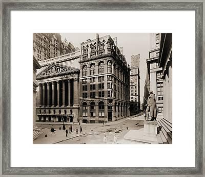 New York Stock Exchange Left Framed Print