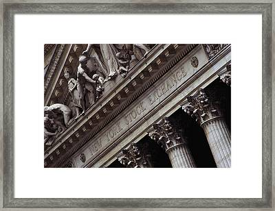 New York Stock Exchange New York Ny Framed Print by Panoramic Images