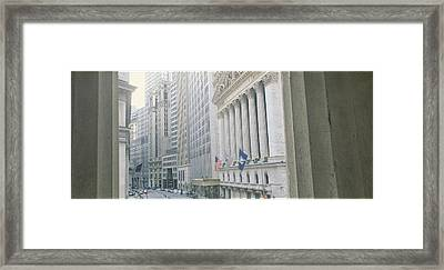 New York Stock Exchange Wall St New Framed Print by Panoramic Images