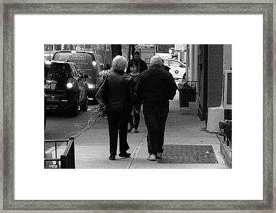 Framed Print featuring the photograph New York Street Photography 75 by Frank Romeo