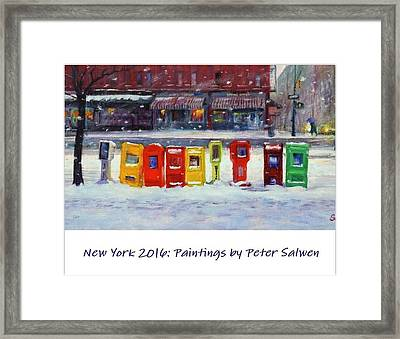 New York Streetscapes 2016 Framed Print