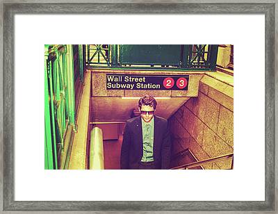 New York Subway Station Framed Print