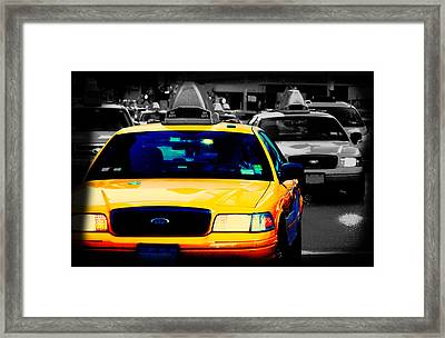 New York Taxi Framed Print by Christopher Woods