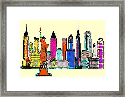 New York - The Big City Framed Print