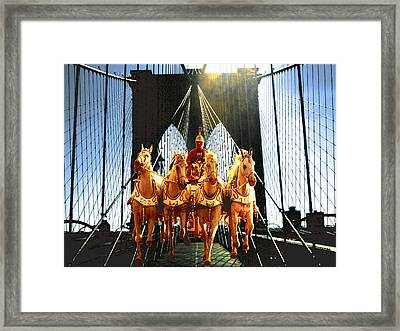 New York Time Machine - Fantasy Art Framed Print