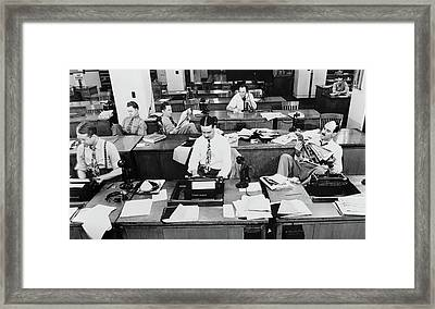 New York Times Reporters 1942 Framed Print