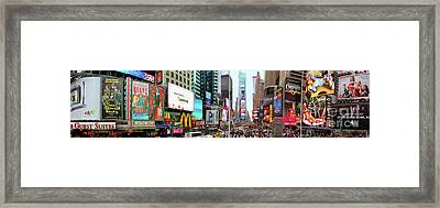 New York Times Square Panorama Framed Print