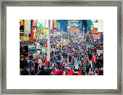 New York Times Square Framed Print