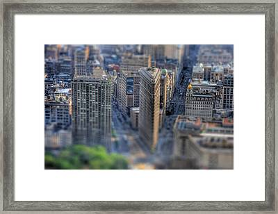 New York Toy Story - Flatiron Building Framed Print