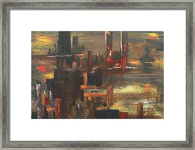 New York Tragedy Framed Print by Miroslaw  Chelchowski