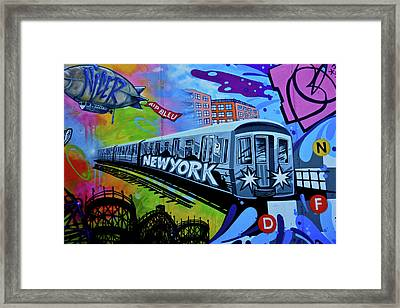 New York Train Framed Print