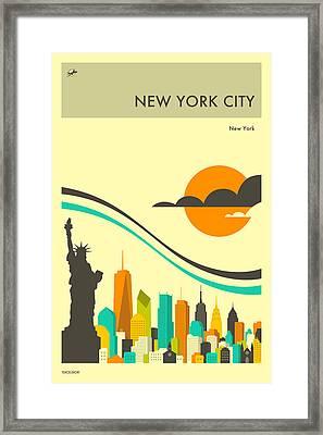 New York Travel Poster Framed Print