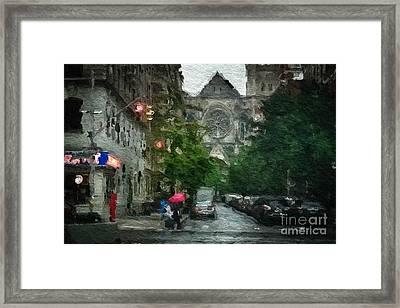 New York Upper West Side Scene Framed Print