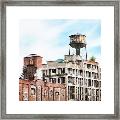 New York Water Towers 18 - Greenpoint Water Tower Framed Print