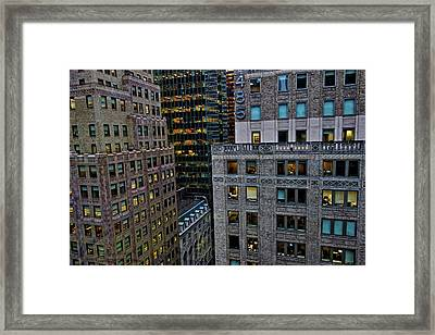 Framed Print featuring the photograph New York Windows by Joan Reese
