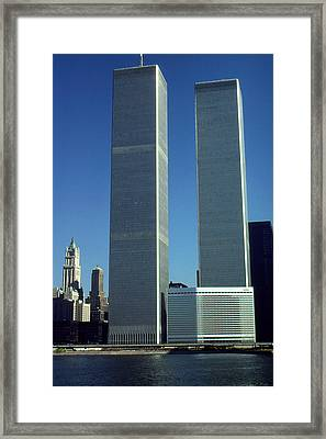New York World Trade Center Before 911 - Architecture Framed Print by Art America Gallery Peter Potter