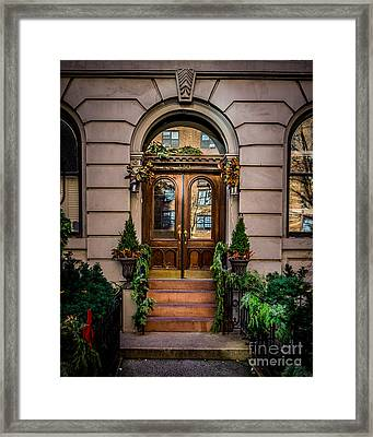 New York Xmas Framed Print by Perry Webster