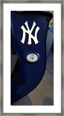 New York Yankee Seat Framed Print by Rob Hans