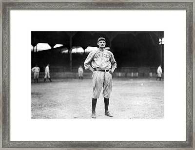New York Yankee Wally Pipp, C. 1917 Framed Print