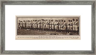 Framed Print featuring the photograph New York Yankees 1916 by Daniel Hagerman