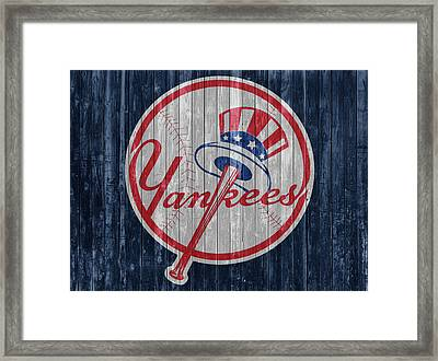 New York Yankees Barn Door Framed Print