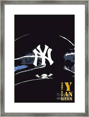 New York Yankees Black Framed Print