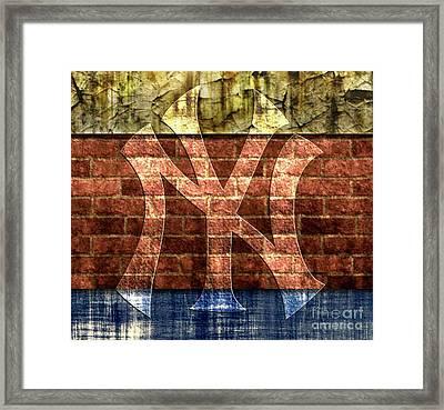 New York Yankees Brick 2 Framed Print