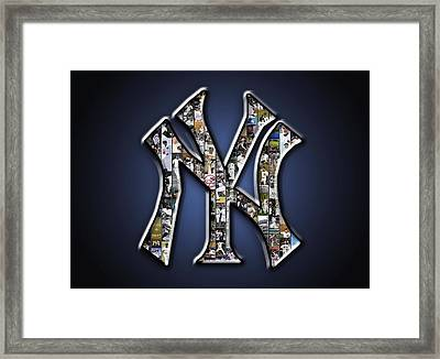 New York Yankees Framed Print by Fairchild Art Studio