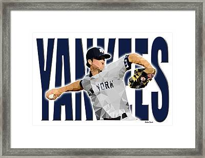 Framed Print featuring the digital art New York Yankees by Stephen Younts