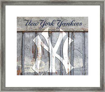 New York Yankees Rustic Framed Print