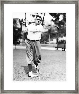 New York Yankees. Yankees Outfielder Framed Print