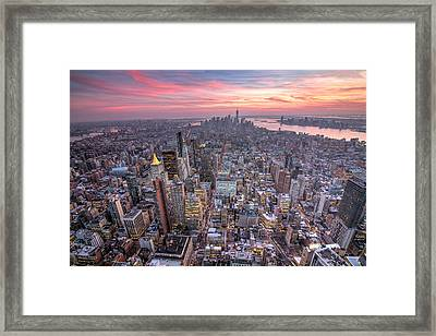 New York Framed Print by Zev Steinhardt