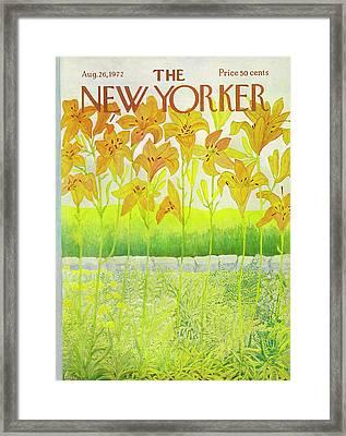 New Yorker Cover August 26 1972  Framed Print