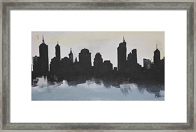 New Yorks Manhatten Framed Print