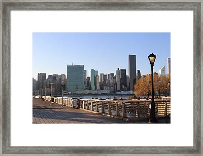 New York's Skyline - A View From Gantry Plaza State Park Framed Print