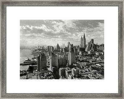 New Your City Skyline Framed Print by Jon Neidert