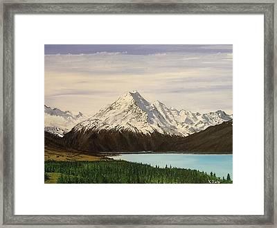 New Zealand Lake Framed Print