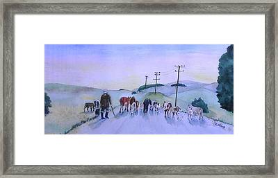 New Zealand Traffic Jam Framed Print