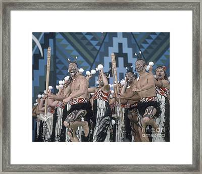 New Zealand,north Island,  Rotorua Arts Festival,dance And Singi Framed Print by Juergen Held
