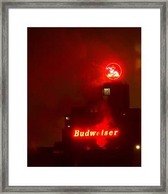 Newark Budweiser Framed Print