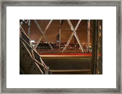 Newark-kearny Bridge New Jersey Framed Print