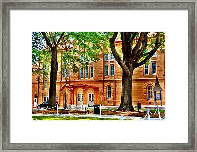 Framed Print featuring the photograph Newberry Opera House Newberry Sc by Lisa Wooten