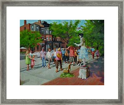 Newbery St. Boston Framed Print by Janet McGrath