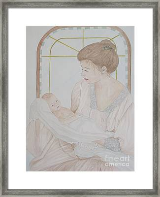 Newborn - Jacqueline Ruby Framed Print by Patti Lennox