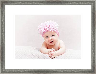 Newborn Fine Portrait Framed Print