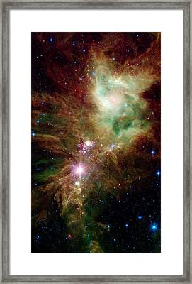 Newborn Stars Framed Print by American School