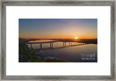 Newburgh-beacon Bridge May Sunrise Framed Print